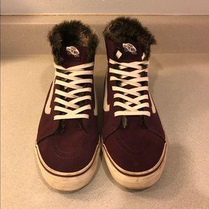 d7a774d13e Vans Shoes - Vans Fur Lined Sk8-Hi Slim